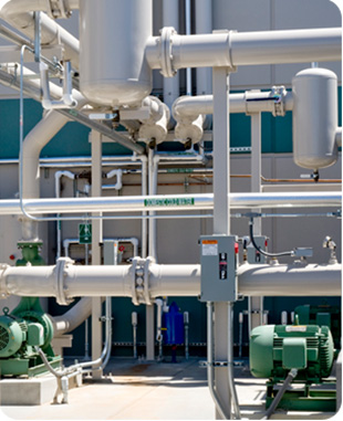 Cooling tower and pumps